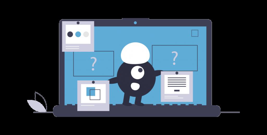 Illustration développement sur ordinateur