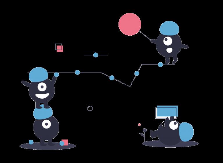 Illustration travail d'équipe